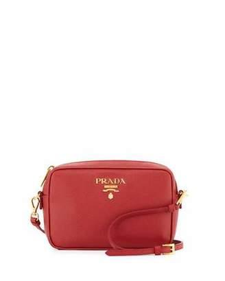 Prada Small Saffiano Camera Crossbody Bag, Red (Fuoco) $850 thestylecure.com