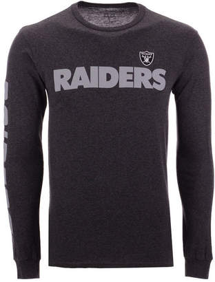 Authentic Nfl Apparel Men's Oakland Raiders Streak Route Long Sleeve T-Shirt