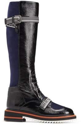 Lanvin Logo Lace-Up Boot