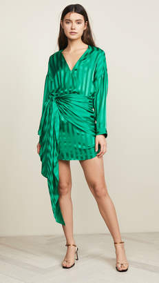 Mason by Michelle Mason Long Sleeve Mini Wrap Dress