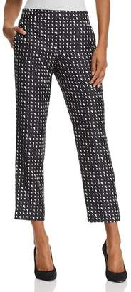 Theory Printed Silk Cropped Pants