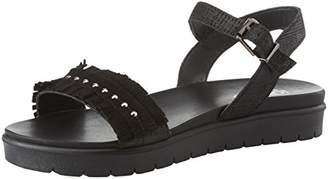 Womens Dsn 11709 Open Toe Sandals, Black Igi & Co