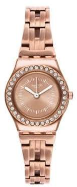 Swatch Analog Rose Gold Stainless Steel Bracelet Watch