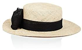 Eugenia Kim Women's Agata Straw Boater Hat-Natural