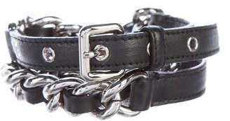 Miu Miu Miu Miu Leather Chain-Link Belt