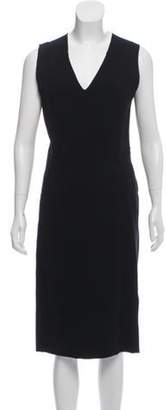 Bottega Veneta Virgin Wool Midi Dress Black Virgin Wool Midi Dress