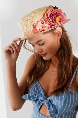 Urban Outfitters Bouquet Short Brim Boater Hat