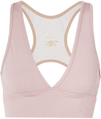 Varley - Brooks Cutout Stretch Sports Bra - Pastel pink