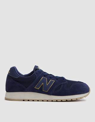 New Balance 520 Suede/Mesh in Dark Cyclone/Gold