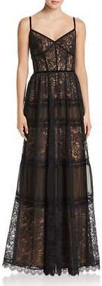 Tadashi Shoji Lace Bustier Gown