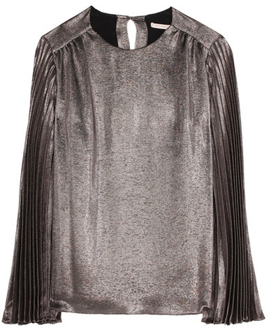 Christopher Kane Christopher Kane Metallic silk-blend top