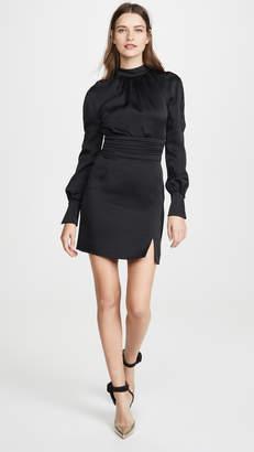 Jonathan Simkhai Crepe Button Sleeve Dress