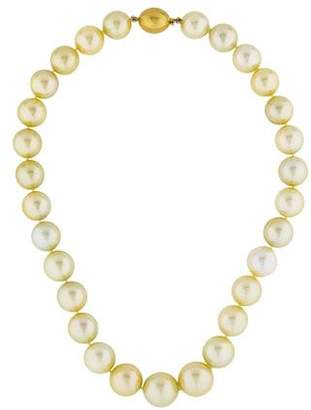 18K Graduated Pearl Bead Strand Necklace