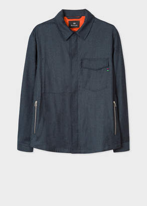 Paul Smith Men's Navy Wool Overshirt
