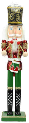Northlight 24In Decorative Red Green & Gold Wooden Christmas Nutcracker Drummer