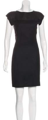 Bottega Veneta Leather-Trimmed Wool Dress