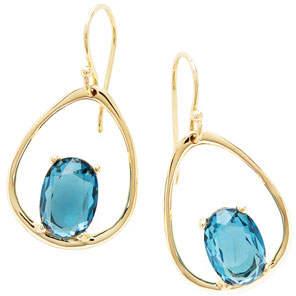 Ippolita 18K Rock Candy Wire Earrings in London Blue Topaz