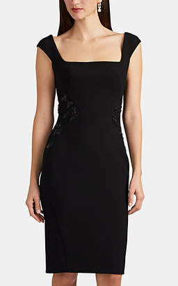 ef748dc40b7 Zac Posen Women s Embellished Bonded Crepe Cocktail Dress - Black