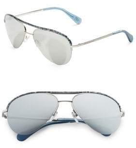 Diane von Furstenberg 58MM Aviator Sunglasses