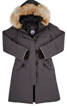 Canada Goose Women's Brittannia Coyote Fur-Trimmed Coat-GREY $575 thestylecure.com