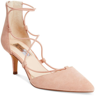 INC International Concepts Daree Lace-Up Pumps, Only at Macy's $89.50 thestylecure.com