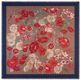 Gucci Spring bouquet modal silk shawl