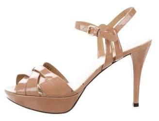 Saint Laurent Crossover Platform Sandals