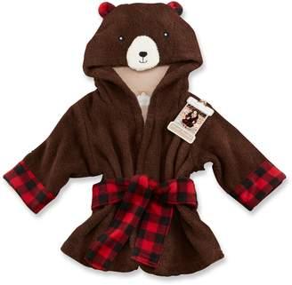 Baby Aspen Beary Bundled Brown & Red Hooded Robe