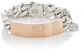 Ann Dexter-Jones Women's Rose Gold & Sterling Silver ID Bracelet-Rose
