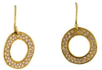 Ippolita 18K Diamond Stardust Open Circle Drop Earrings