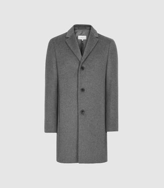 Reiss Gable - Wool Epsom Overcoat in Charcoal