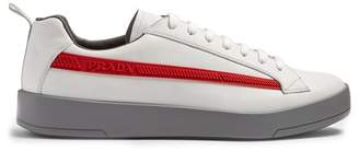 Prada Low Top Leather Trainers - Mens - White