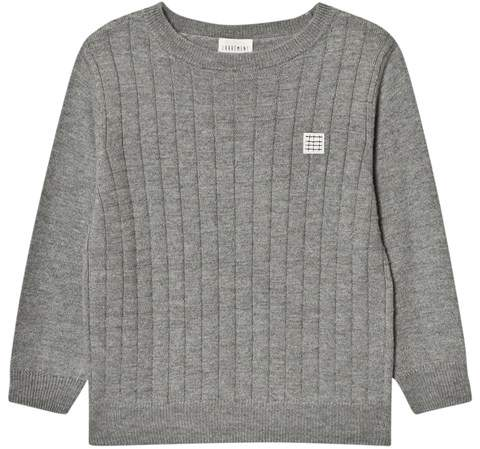 Carrément Beau Grey Knit Crew Neck Jumper