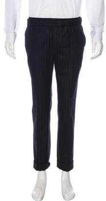 Valentino Pinstripe Wool Pants