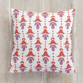 Folk Bells Self-Launch Square Pillows