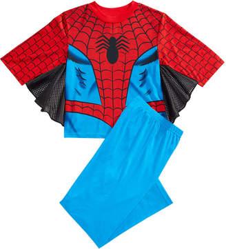 Spiderman Marvel's 2-Pc. Winged Pajama Set, Little Boys & Big Boys