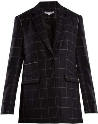 Elizabeth and James Caprice windowpane-checked wool-blend blazer