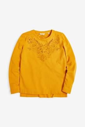 Next Womens Ochre Embroidery Detail Sweater