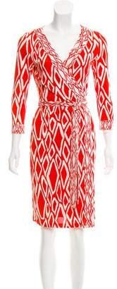Diane von Furstenberg Banded Julian Silk Dress
