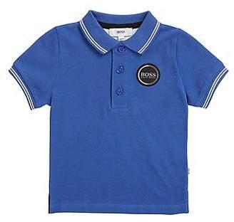 HUGO BOSS Kids' polo shirt in cotton pique with logo badge