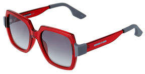 McQ Two-Tone Square Plastic Sunglasses
