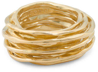 Made In Bali 14k Gold Plated Sterling Silver Wrap Band Ring