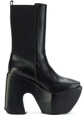 Marques Almeida Marques'almeida open toe platform boots