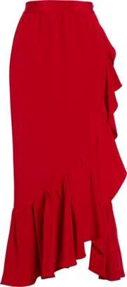 ADAM by Adam Lippes Silk Crepe Ruffle Cascade Skirt