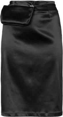 Alyx detachable pouch satin pencil skirt