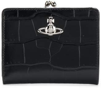 Vivienne Westwood crocodile embossed logo purse