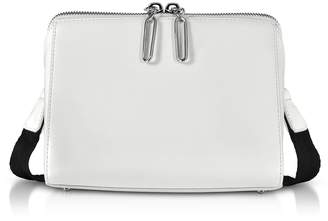 3.1 Phillip Lim White Leather Ray Triangle Crossbody Bag