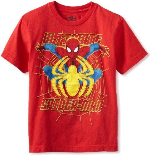 Marvel Spiderman Big Boys' Short-Sleeve Applique Tee