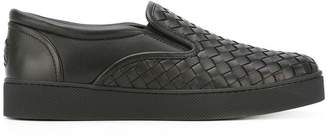 Bottega Veneta nero Intrecciato nappa sneaker