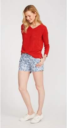 J.Mclaughlin Petal Scallop Shorts in Paisley Bandana